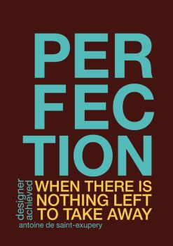 When does a designer achieve perfection? by evusha