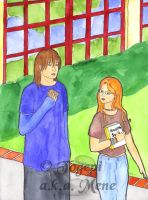 Lee and Dawn at school by mene