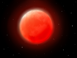 the shining of red moon by Karen-Donna