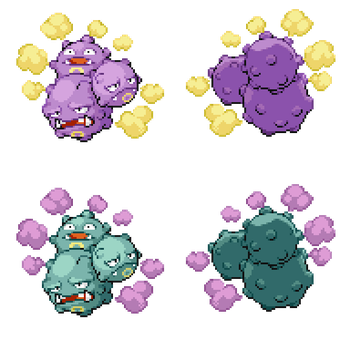 Weezing (Triplet Forme) by ChrisChai7990