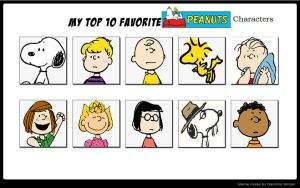 My Top 10 Favorite Peanuts Characters by Ezmanify