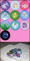 Pony Buttons (Series One) by LinksLove