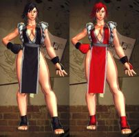 SFxT Mod - Chun Li: Mai Shiranui(Short Black Hair) by Segadordelinks