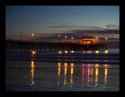Balboa Pier at Dusk by krissy