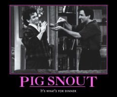 PS: Pig Snout Poster by angelacapel