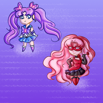 Chibi Parallel Moon Sisters by Meg-the-fly