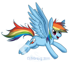 Rainbow dash by chibitracy