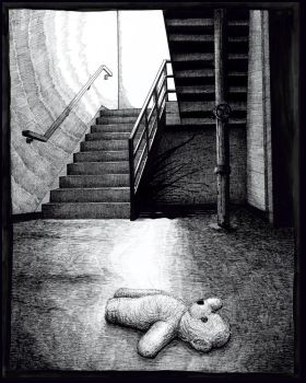 Beneath the stairs by baconworm