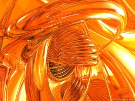 Orange Abstract by VickyM72