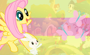 Fluttershy Wallpaper by mayosia