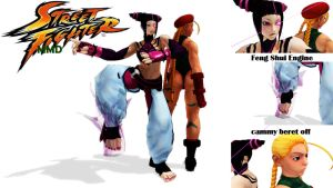 MMD MODELS STREET FIGHTER PACK1 (han juri cammy)DL by aittel