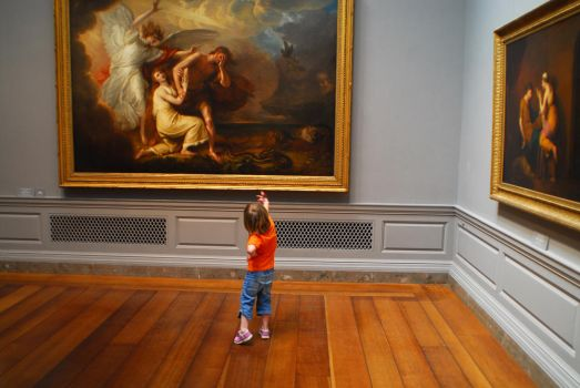 Daughter in Gallery by untitledphotographer