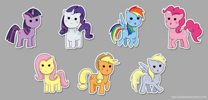 Pony Stickers by raynubu