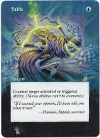 Magic Card Alteration: Stifle by Ondal-the-Fool