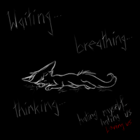 waiting breathing thinking by CrispyCh0colate