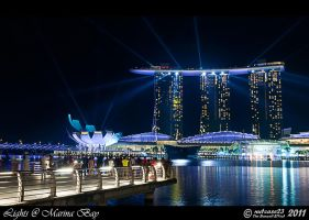 Lights at Marina Bay by nutcase23