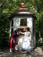 Love in the 18th century garden by Isiswardrobe