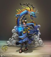 BUSHIDO - Dragon Sorceress by dinmoney