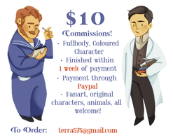$10 COMMISSIONS! by norree