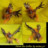 My little pony custom griffon Devon by AmbarJulieta
