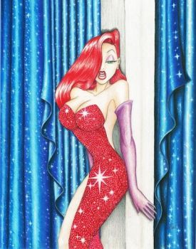 Jessica Rabbit Original Art by DenaeFrazierStudios