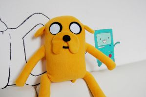 Jake the dog - Adventure Time Fan Art Plush by MyChemicalIcetea