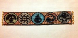 Beaded Magic the Gathering Bookmark by ravenarcana