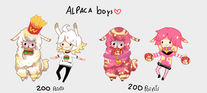Alpaca Boys - CLOSED by Ayuki-Shura-Nyan