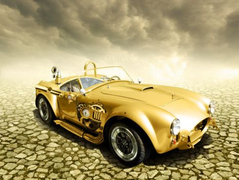 Steampunk golden car by AlexandraF