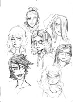 random female Faces by rugdog