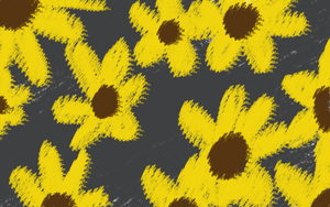 Crayon Sunflowers by RebelStarwarrior