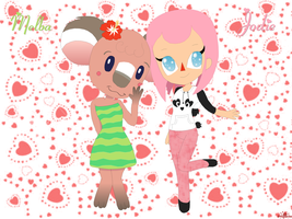 ACNL - Melba and Jodie by psylvia
