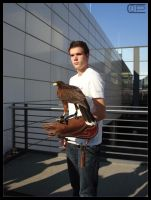 Me with hawk at Photokina by Crank0
