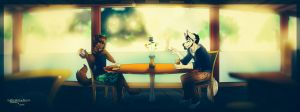 Coffee with a friend (iPhone filter version) by JLindseyB