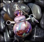 Moon Visions - Glass Lampwork Bottle Pendant by andromeda