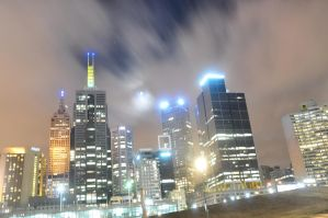 glowing melbourne city by sumangal16