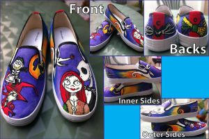 Nightmare Before Christmas Shoes by CrystalsCreative