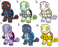 Squirtle Adoptables by Heartiful