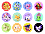 Digimon Buttons by kimchii