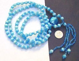 Catseye mala w. beaded tassel by wombat1138
