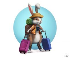 Traveler rabbit by cicakkia