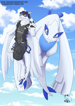 Lugge and Lugia by Pachi-Mapache