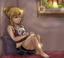 Lucy and Plue by Jaymeri-kun
