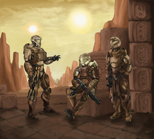 Fireteam Atlas: Undercover (Commission) by The-Chronothaur