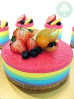 Rainbow Cheesecake by Sliceofcake