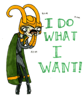 LOKI WANTS CAKE~ {6/30} by huzzellzebub