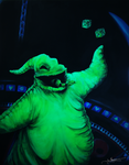 A Gamblin' Man (Oogie Boogie Acrylic Painting) by ItsBirdyArt