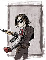 Bucky Sketch by Honez