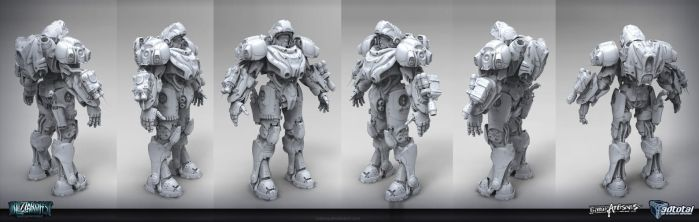 BlizzFest Contest Wip - Medic Armor High Poly by tsabszy