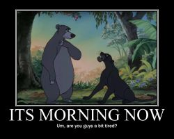 Baloo and Bagheera motivated poster by NightAngelGirl